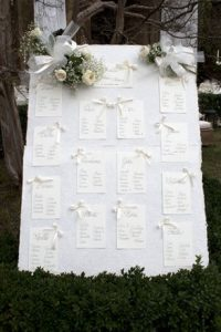tableau de mariage seating chart table names white
