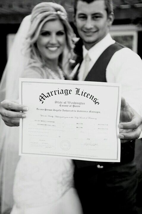Marriage license, Wedding
